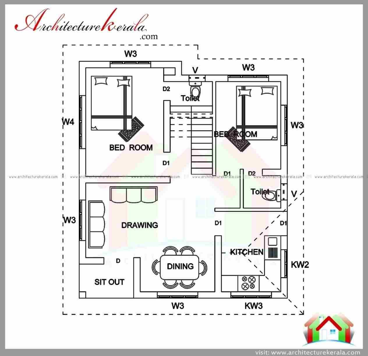 Sq Ft Semengnetrhsemengnet Lovely Awesome Rhciaonlinecom Lovely 2 Bedroom House Plans Indian Small Modern House Plans Bedroom House Plans 2 Bedroom House Plans