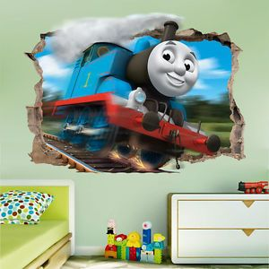 Genial THOMAS THE TANK ENGINE SMASHED WALL STICKER   BEDROOM KIDS VINYL LOCOMOTIVE  ART | EBay