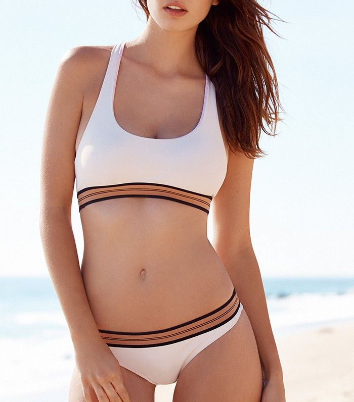 f1dd590292 This Is the Most Flattering Swimsuit Color for All Skin Tones via   WhoWhatWear