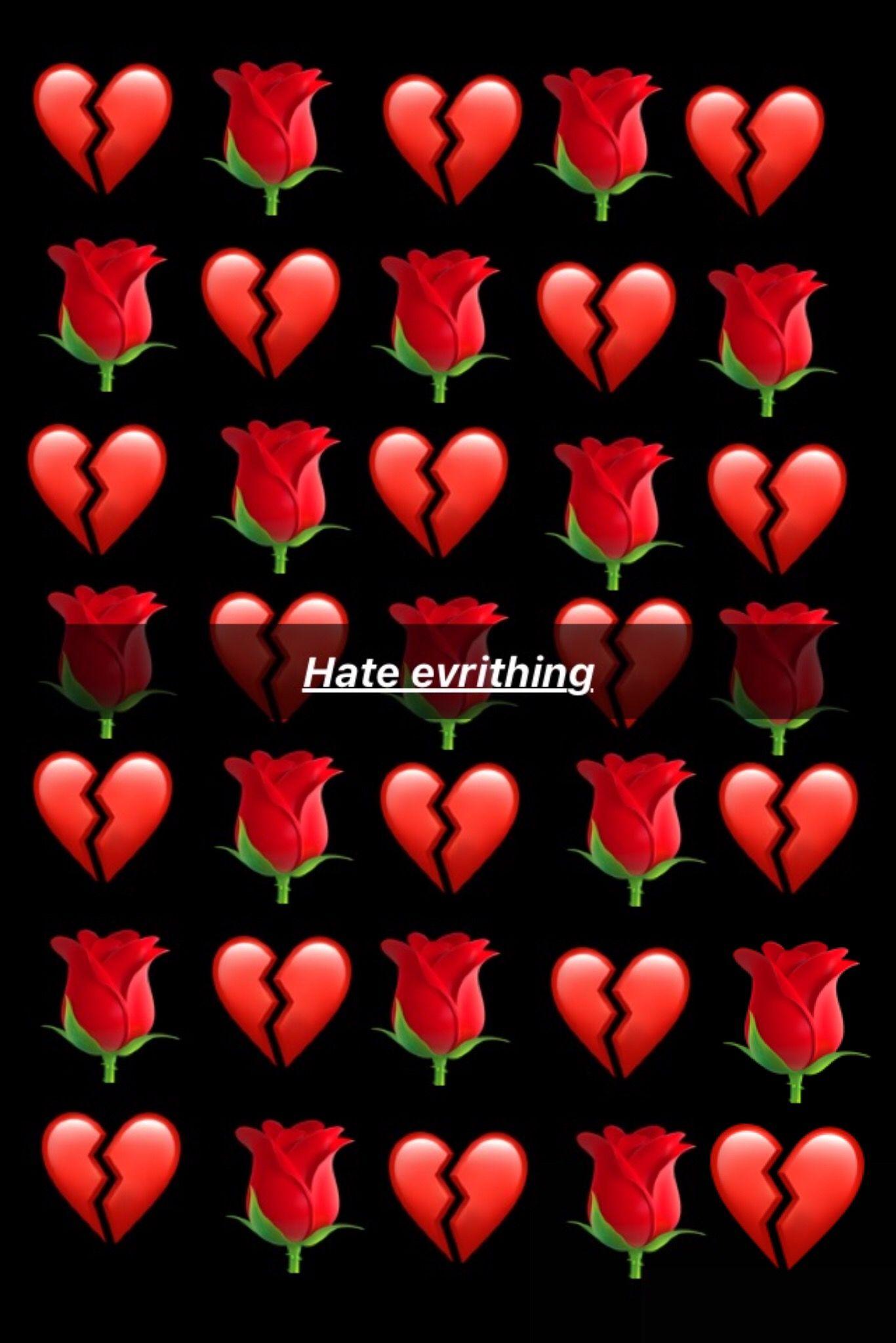 Roses Hate Evrithing Life Broke Heart Emo Wallpaper
