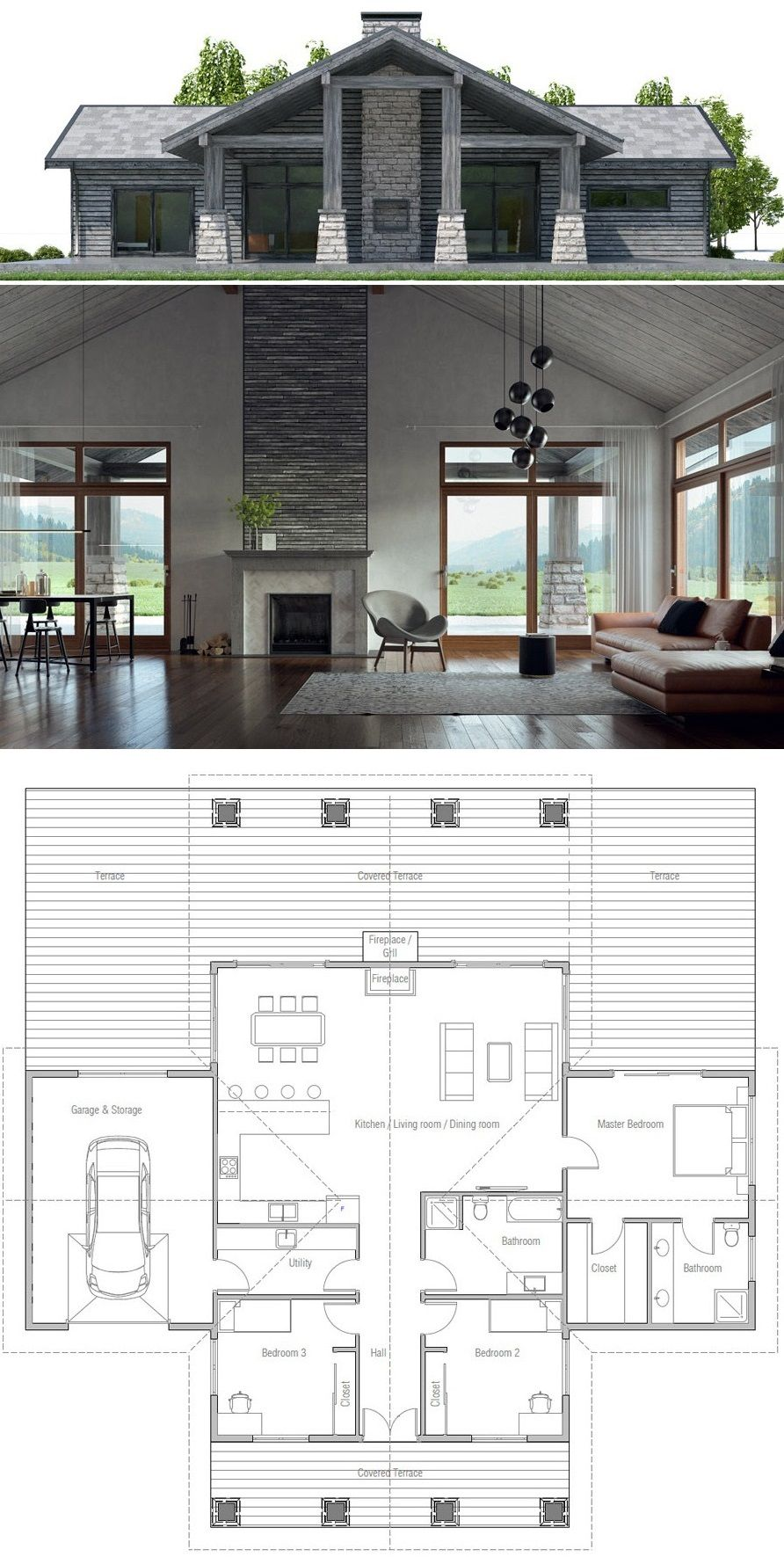 Floor Plans For Cottages And Bungalows Modern House