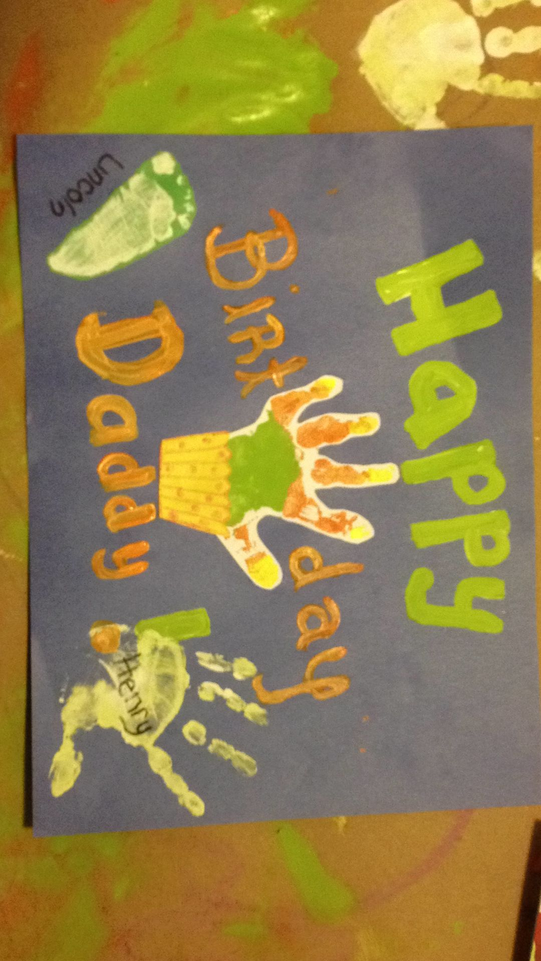 Birthday Card Craft Ideas For Toddlers ~ Handprint cupcake birthday card craft easy toddler card get