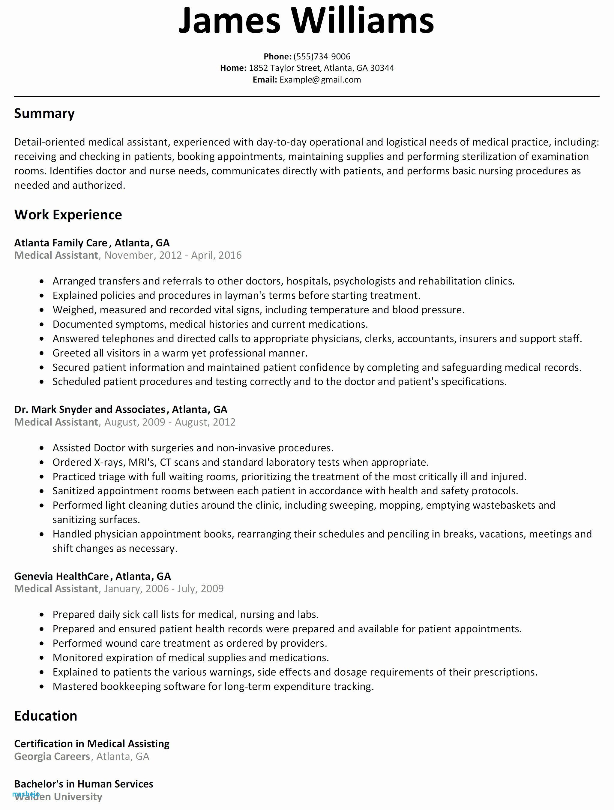 68 Beautiful Photos Of Resume Examples For Medical Assistant With