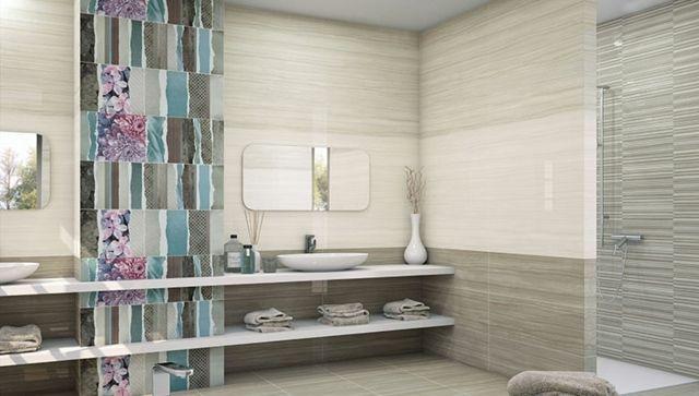 Modernes Badezimmer Fliesen Muster Kombinieren
