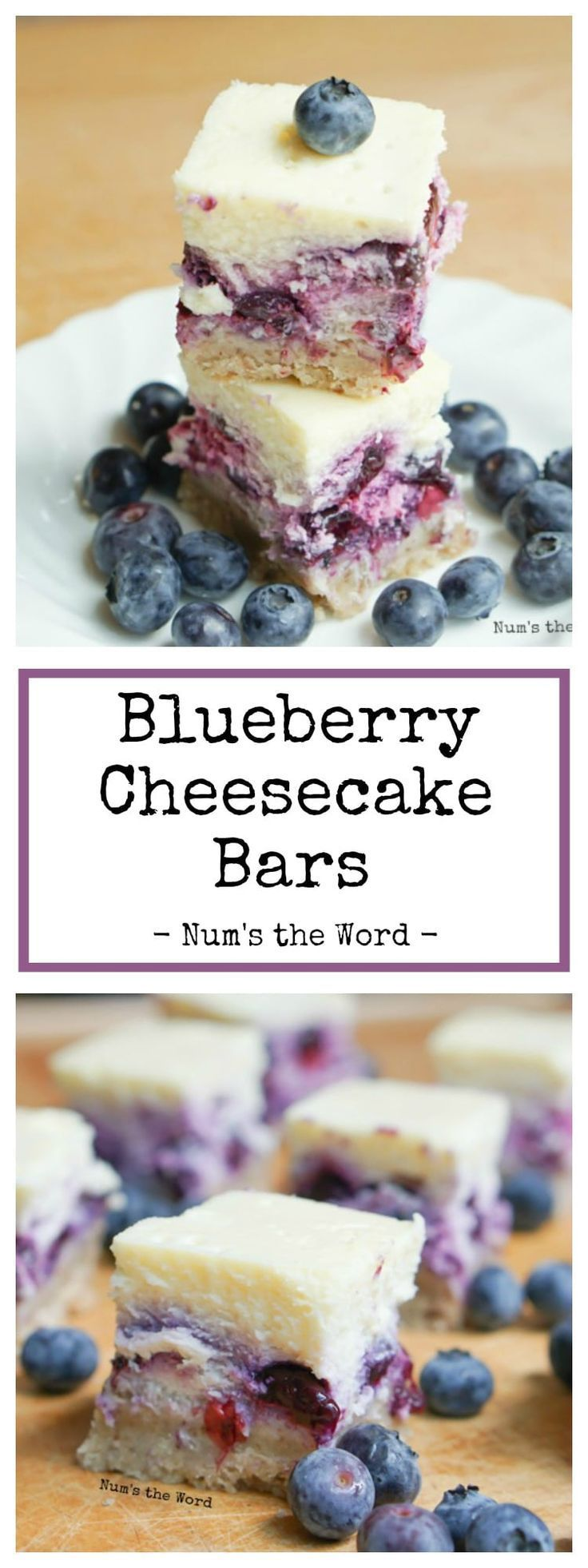 These easy blueberry cheesecake bars are great for beginners and having it as a bar is easy to eat at a gathering! Substitute with your favorite berry!