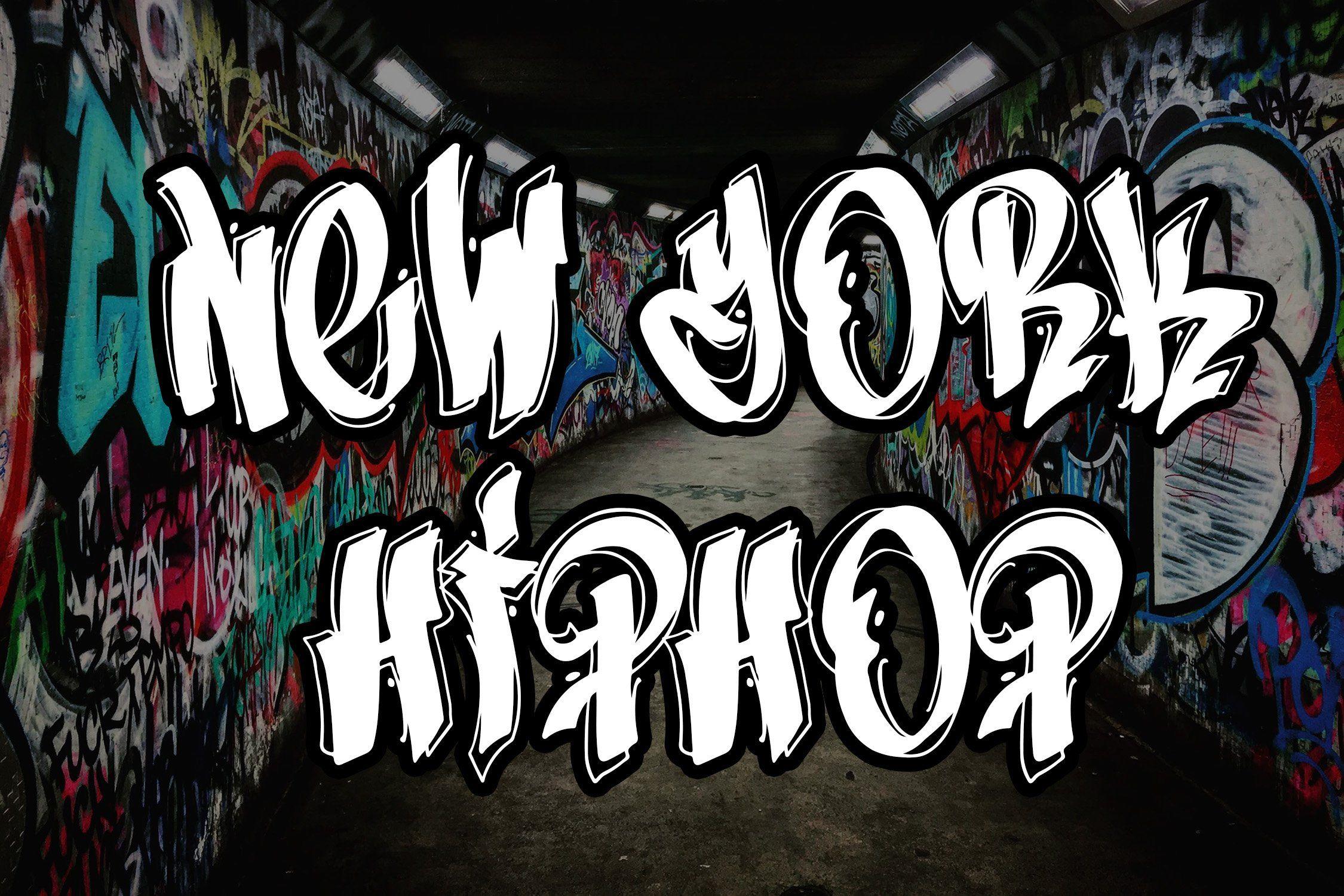 New York Hip Hop Graffiti Font Graffiti font, Easy