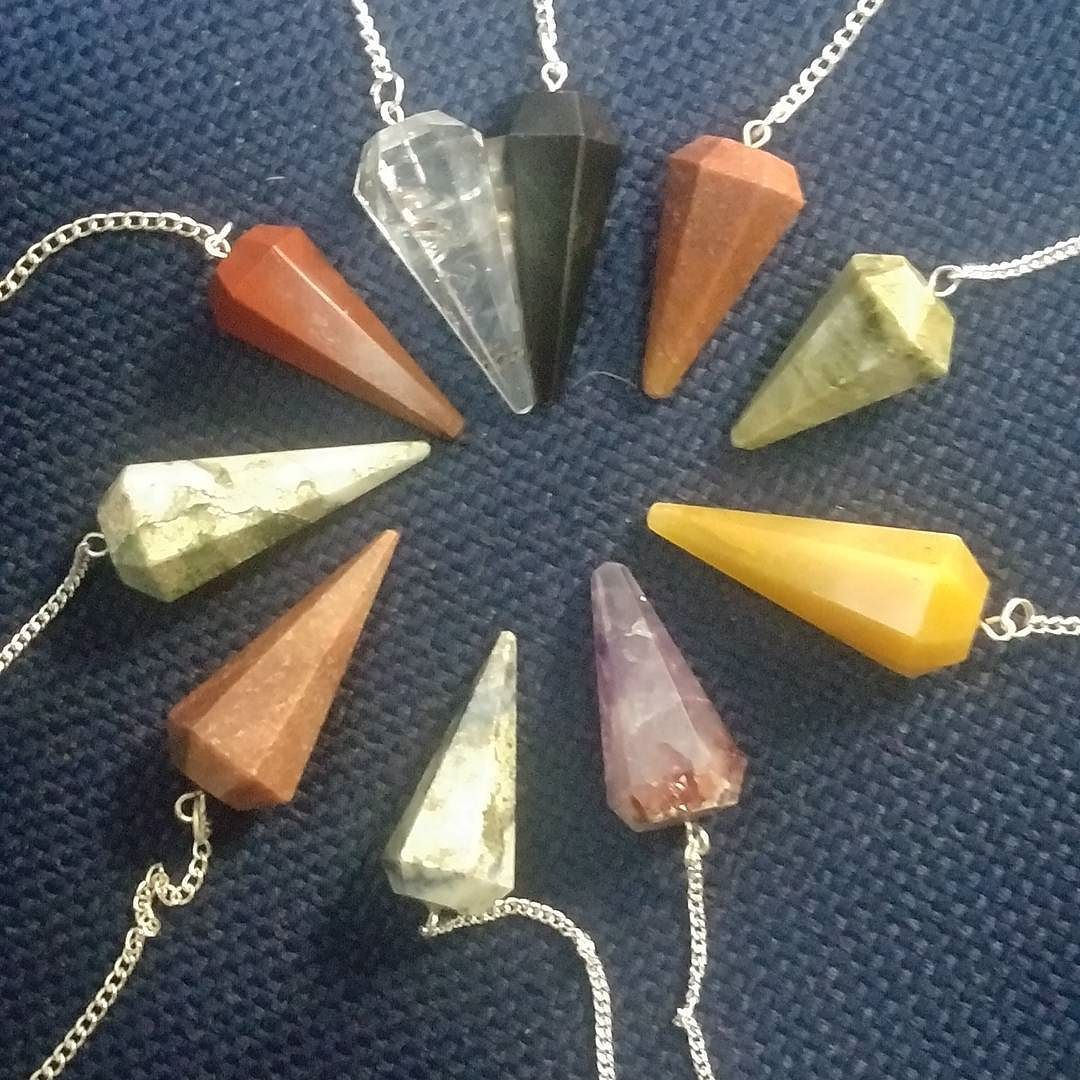 #pendulums #pendulum are stocked up at #earthandsoulshop #earthandsoul #magicalstones #metaphysical #magical #witchythings #witchy #magick #shopsmallbusiness #shoplocal