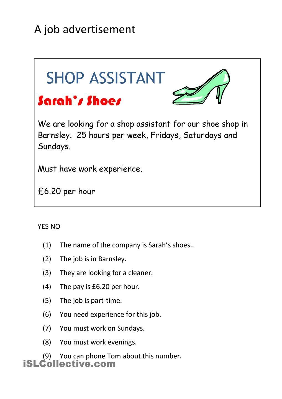 A Job Advertisement Job Advertisement Word Families Advertising [ 1440 x 1018 Pixel ]