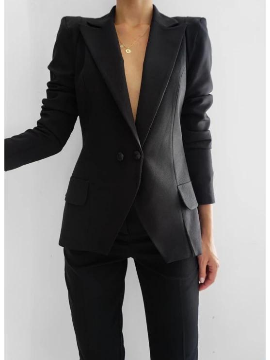 Marynarka Valentia Black Fashion Women S Blazer Blazer