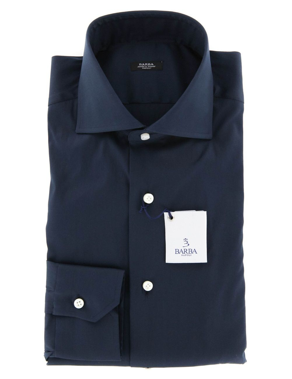 Barba Napoli Navy Blue Shirt - 15.5 US / 39 EU. Click here for more Barba Napoli Men's Shirts http://www.shopthefinest.com/nsearch.aspx?Brand=Barba%20Napoli