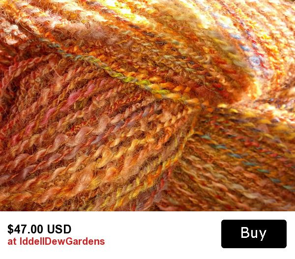 "Handspun, hand dyed 100% wool yarn, 260 yards ""Vine Maple on the Hill"""