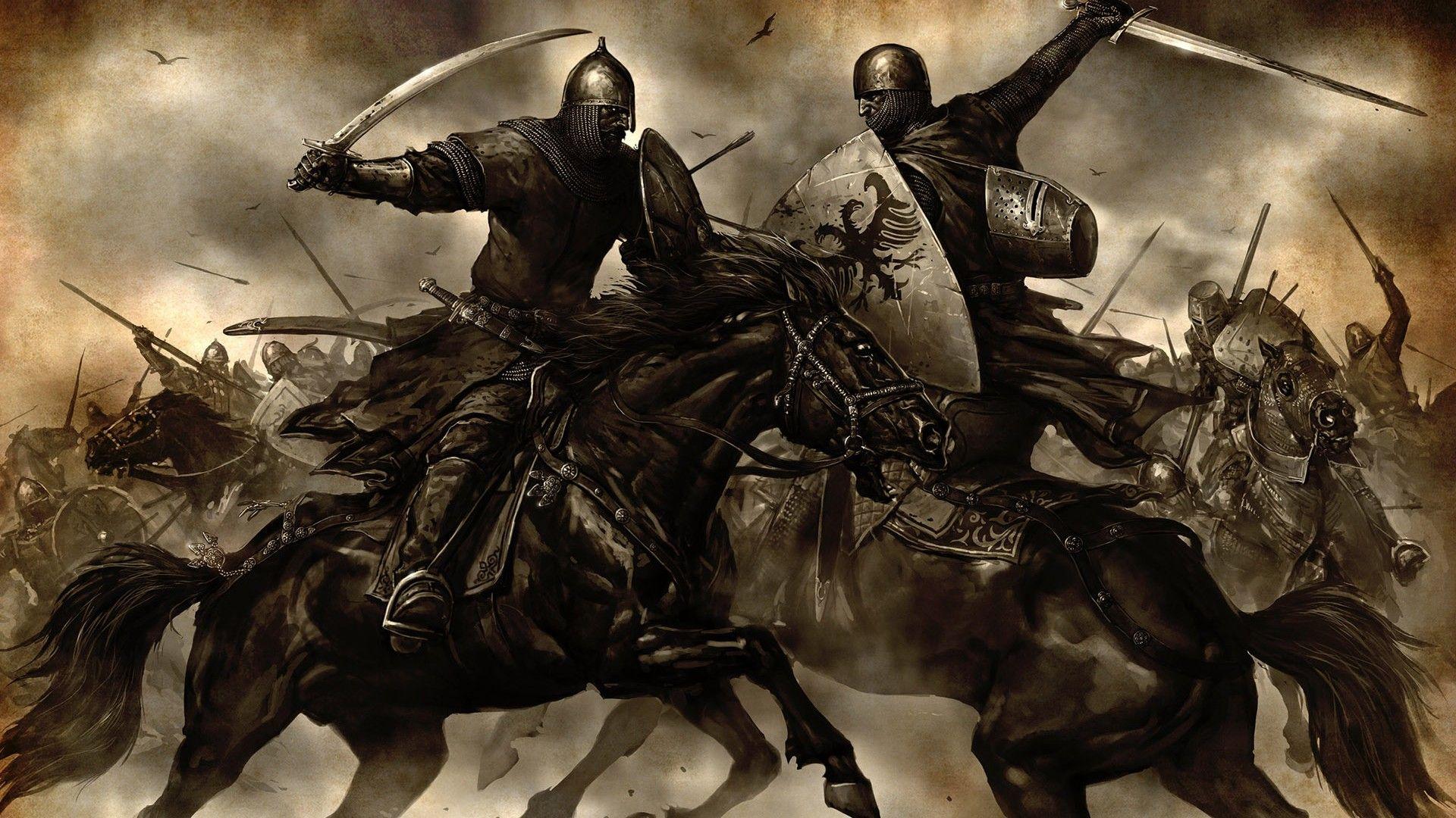 War Battle Artwork Drawings Medieval Horsemen Mount 1920x1080 Wallpaper Warrior Woman Ancient Warriors Knight On Horse