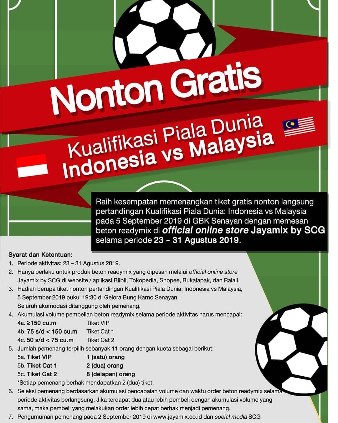 Nonton Gratis Kualifikasi Piala Dunia Indonesia Vs Malaysia Nobarjayamixscg Worldcup Worldcupqua Nonton Gratis Kualifikasi Piala Dunia Indonesia Vs Malays