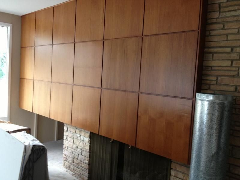 Modern Wood Paneling For Fireplace