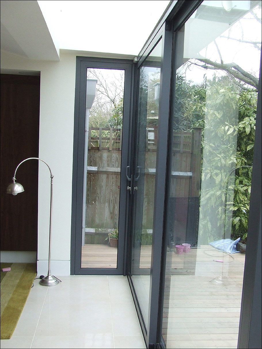 First Sliding Doors In Wandsworth Corner One Opens Out Extension
