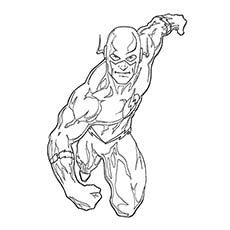 superhero coloring pages the flash - Flash Running Coloring Pages