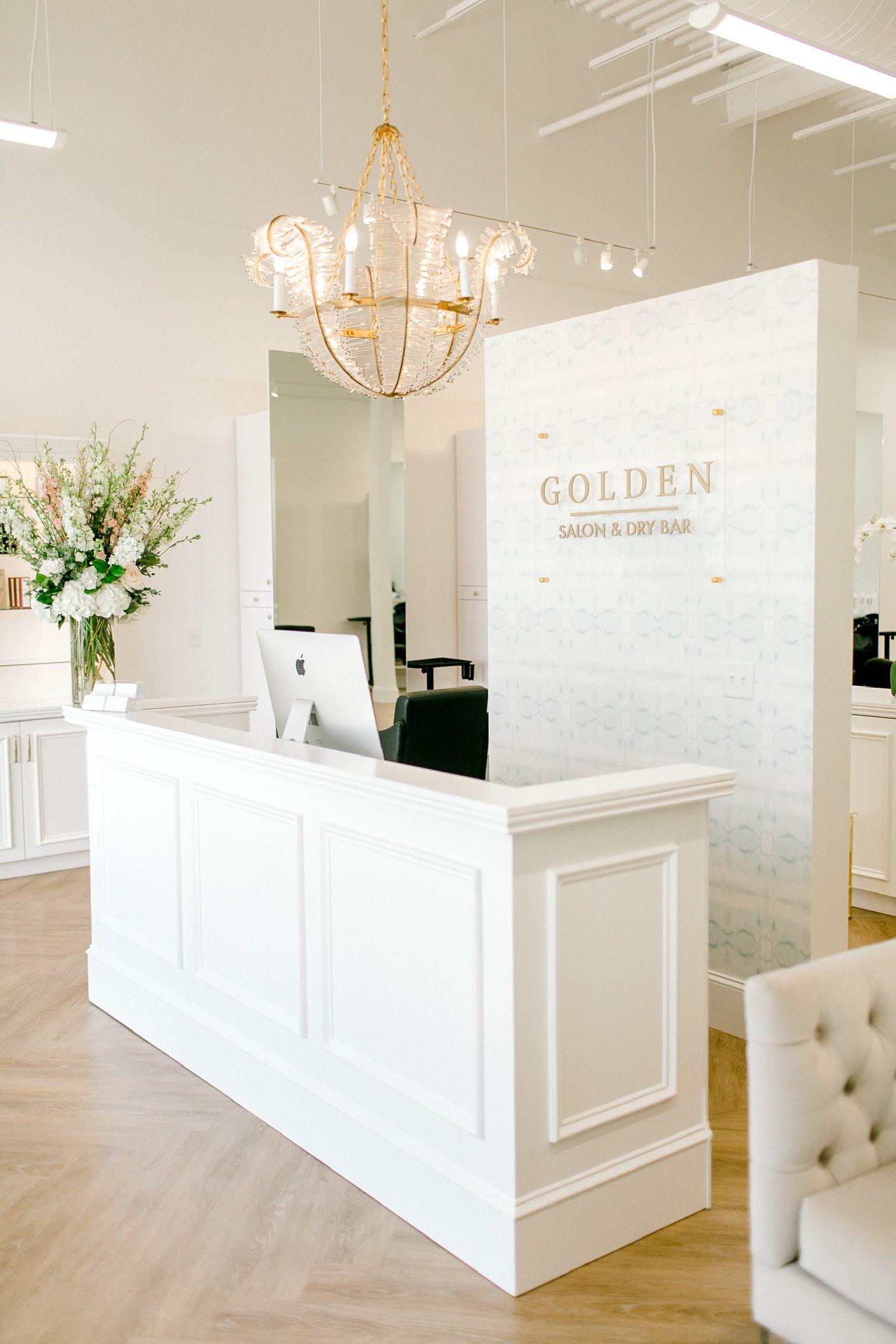 Designsbymeganmac Goldensalon Meganannmcfarland Beauty Room Decor Salon Interior Design Esthetician Room Decor
