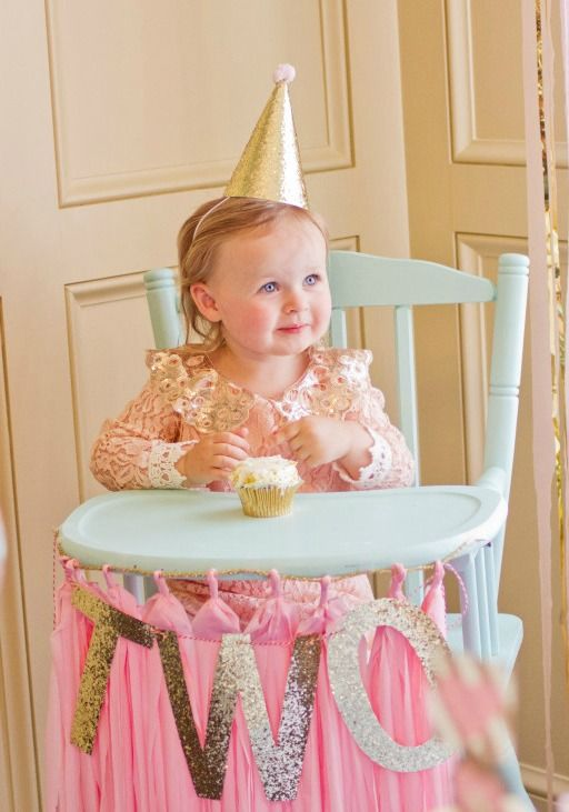 Bridget 39 s pink and gold 2nd birthday party children for 2nd birthday decoration ideas