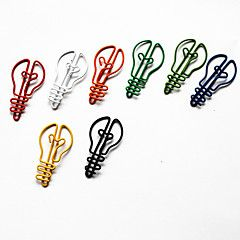 stile lampadina colorata clip carta (colore casuale, 10-pack)