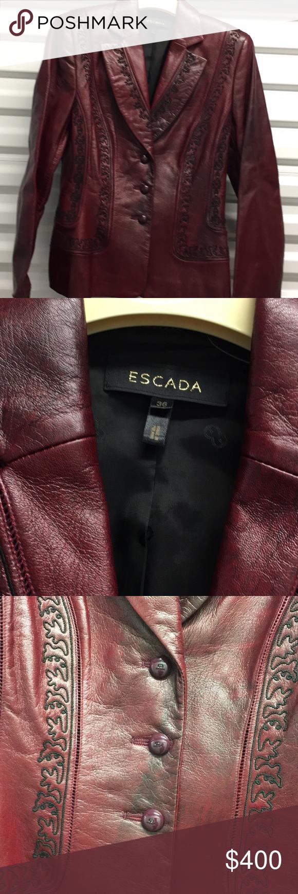 Escada Leather Jacket Escada Jacket Leather Jacket Fashion [ 1740 x 580 Pixel ]