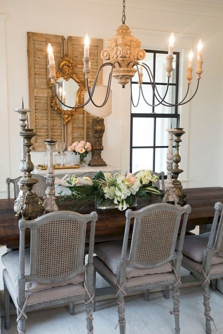 73 Awesome Vintage French Country Dining Room Design Ideas French Country Dining Room French Country Decorating Living Room Farmhouse Dining Rooms Decor