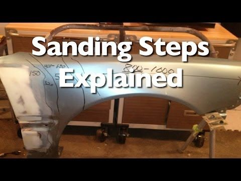 Sanding Steps To Prep A Car For Paint And Clear Auto Body Work