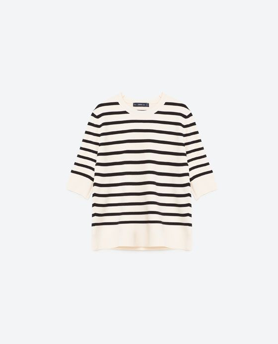 STRIPED SWEATER from Zara