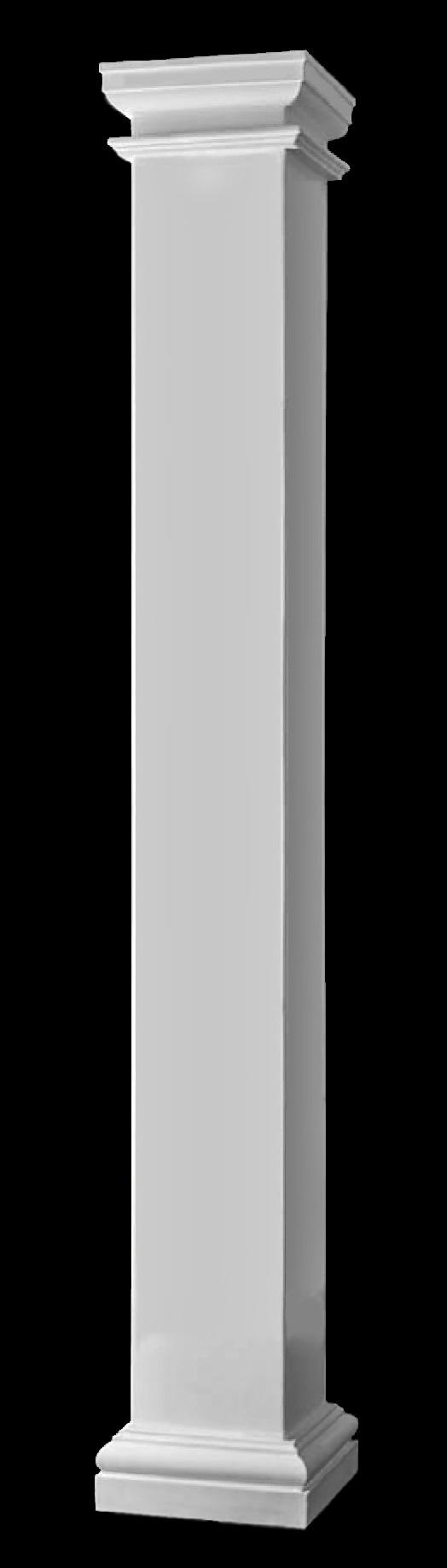 Crown Columns Fiberglass : Plain square interior columns detail nontapered