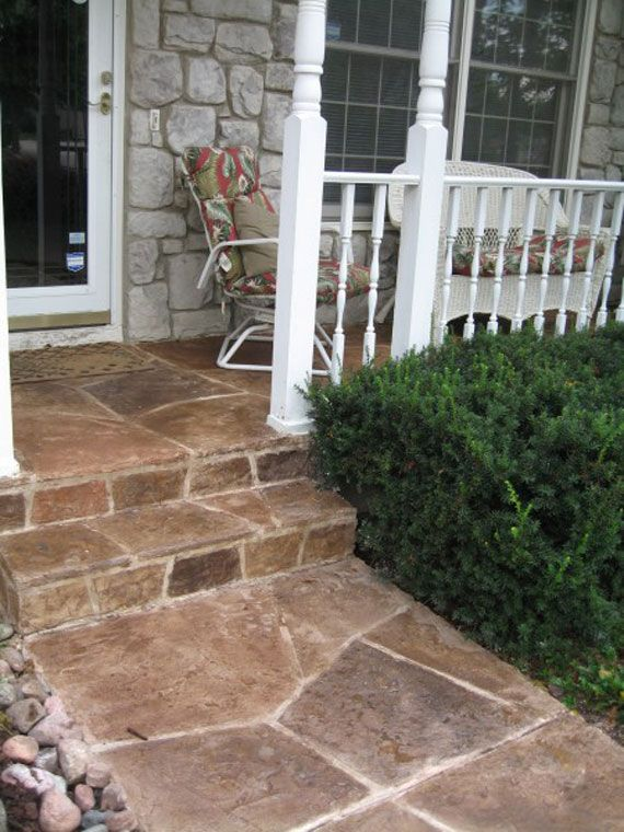 Stone Front Porch Step Flooring As Exterior Front