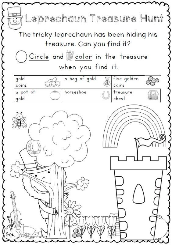 St Patricks Day Seek Find Worksheet St Patrick Day Activities St Patrick St Pattys Day
