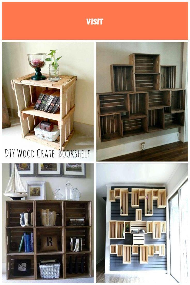Photo of Ich habe diese Kiste zu einem Nachttisch gemacht. DIY-Holzkisten-Bücherregal, #Bedside #bookshelf # …
