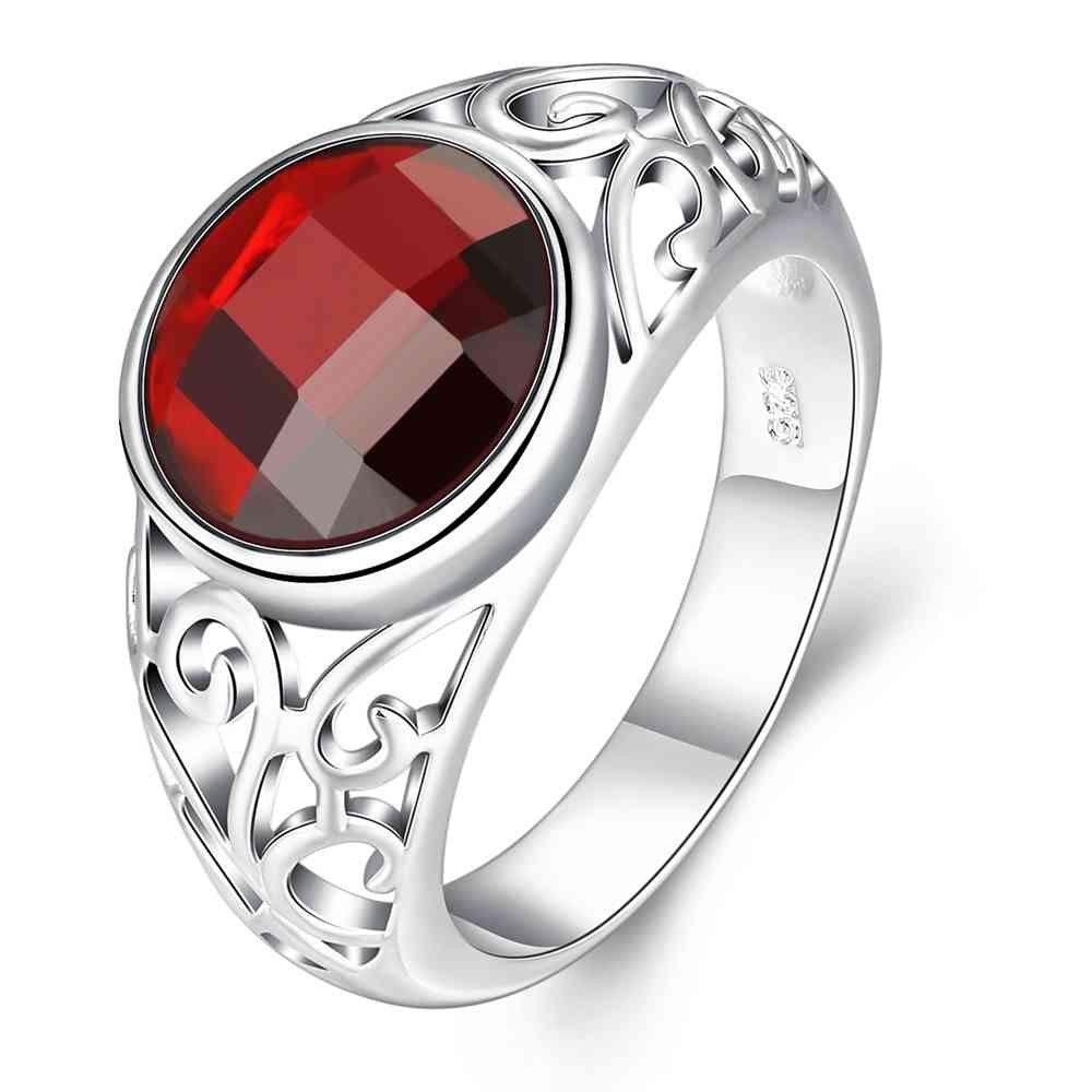exo silver plated wedding ring Irregular insets anillos tous bear