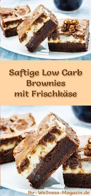 Saftige Brownies mit Frischkäse - Low-Carb-Rezept ohne Zucker #lowcarbeating