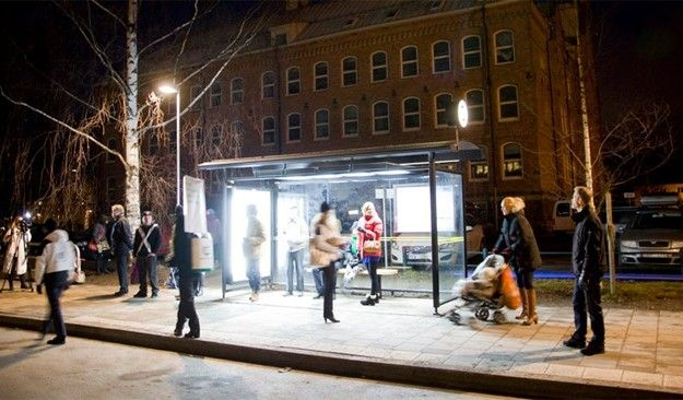 Swedish energy company Umeå Energi has installed special lights in 30 different bus stops in Umeå, to help commuters combat Seasonal Affective Disorder. The disorder is caused by lack of sunlight, causing people to feel tired and depressed. The concept is designed to provide light therapy for commuters. The intentional choice of a public setting for the marketing push transforms normal city infrastructure into community 'healing centers'.