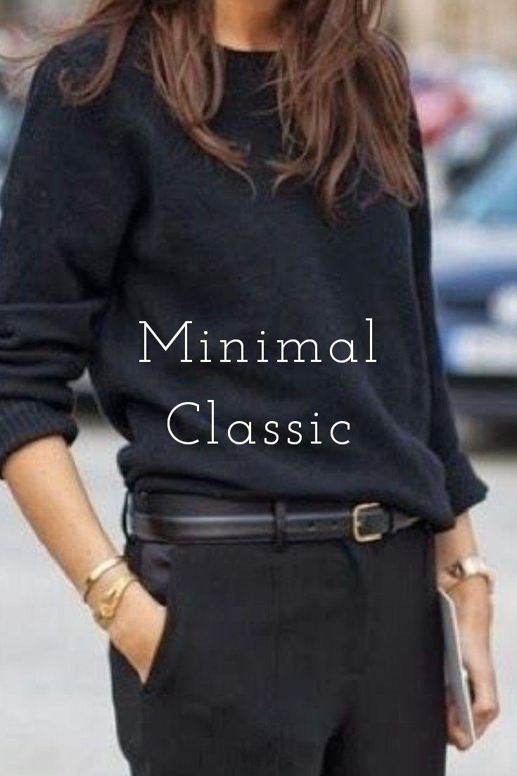 Total black : le look minimaliste et chic par exce