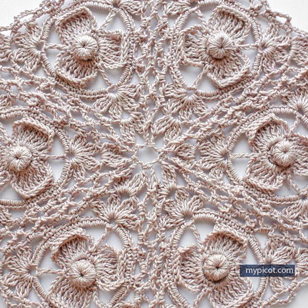 Triangle Irish Style Crochet Motif Free Crochet Pattern Mypicot
