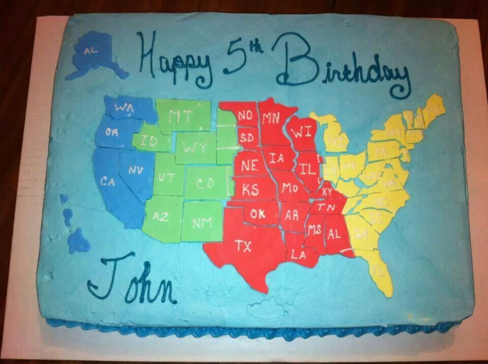 Us Weather On Map%0A Map of the United States cake