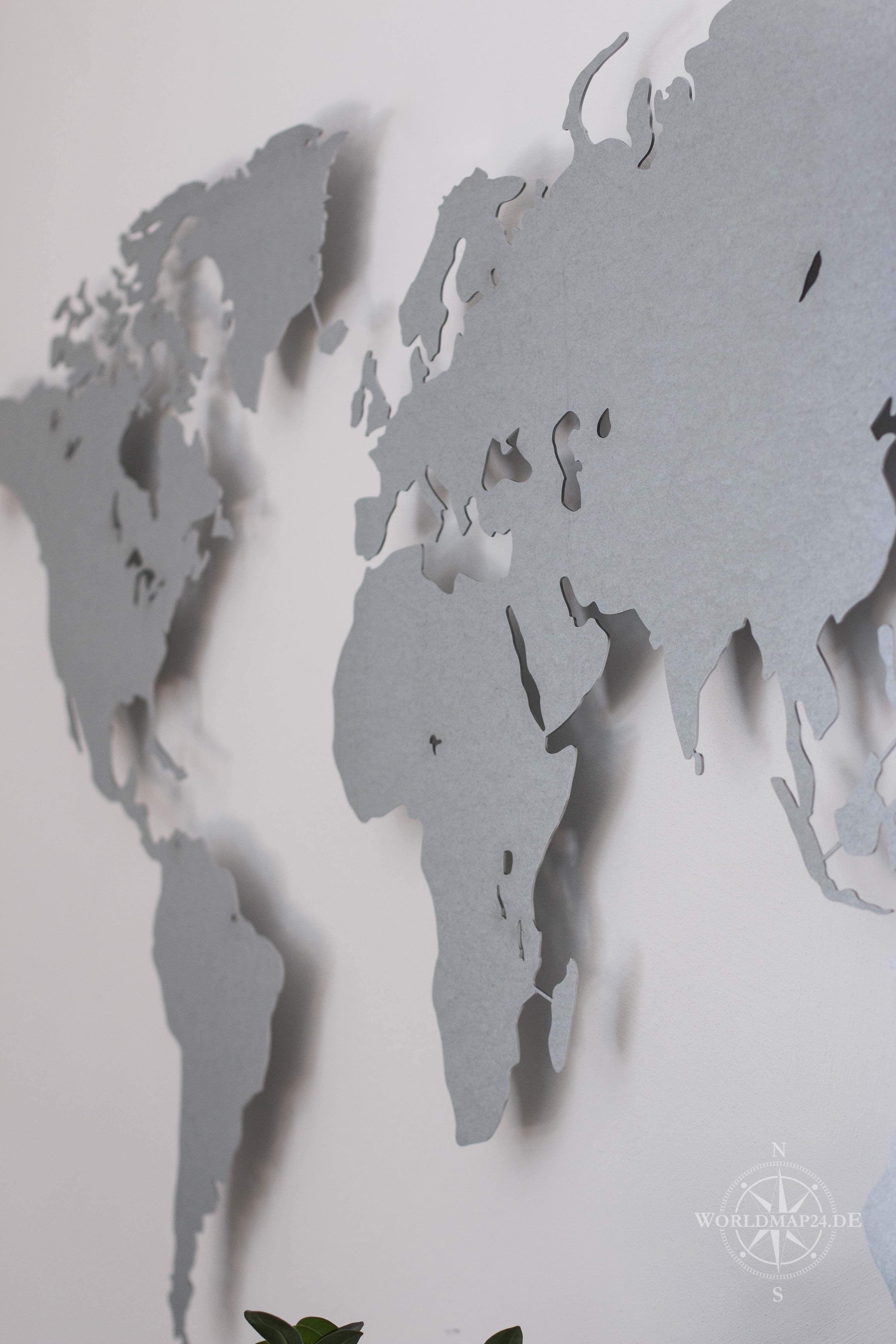 Design-Weltkarte aus Stahl (verzinkt)   Weltkarte, Stahl und Designs