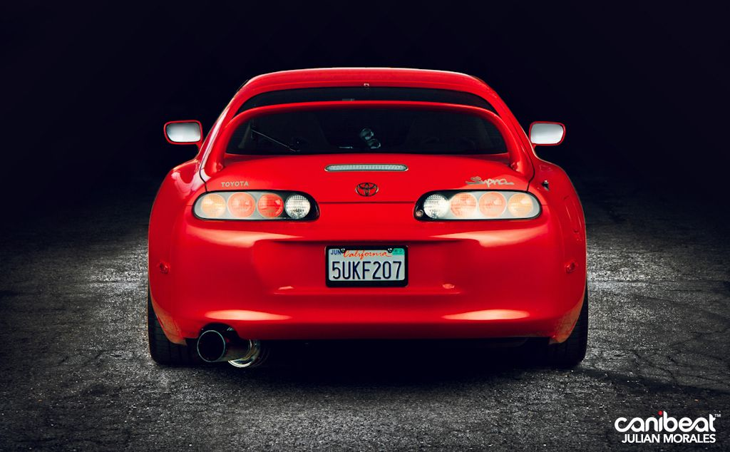 Red Toyota Supra (9)