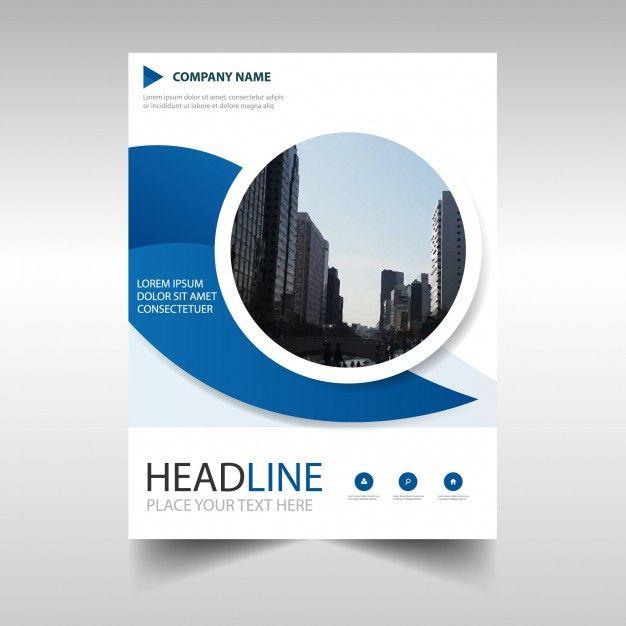 Blue Circular Creative Business Brochure Design Free Vector