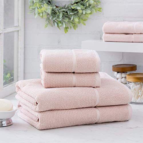 Welhome Anderson Luxurious 100% Turkish Cotton 6 Piece Towel Set (SoftRose) - Ultrasoft - Heavyweight & Super Absorbe...