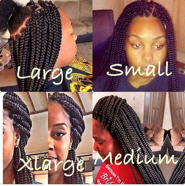 Braid Sizes All About Hair Pinterest Hair Style