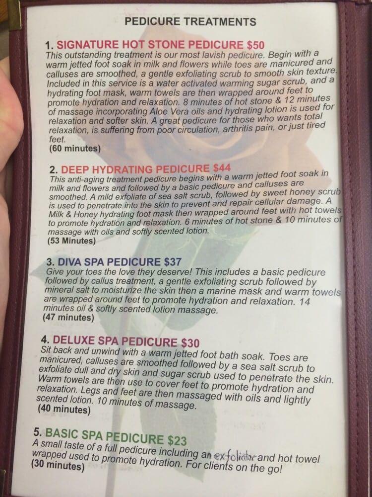 Diva Nail Spa Pedicure Menu And Price List Yelp Diva Nails Spa