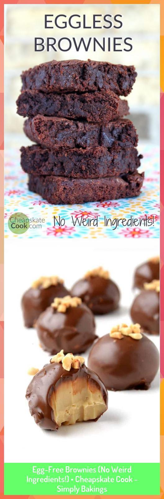 EggFree Brownies No Weird Ingredients  Cheapskate Cook  Simply Bakings