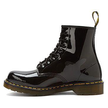 Dr Martens Original 1460 Black Patent Lamper Boots Black Dr Martens Original