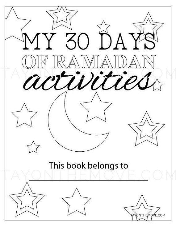 30 Days of Ramadan Activity Book, Printable, Muslim Kids