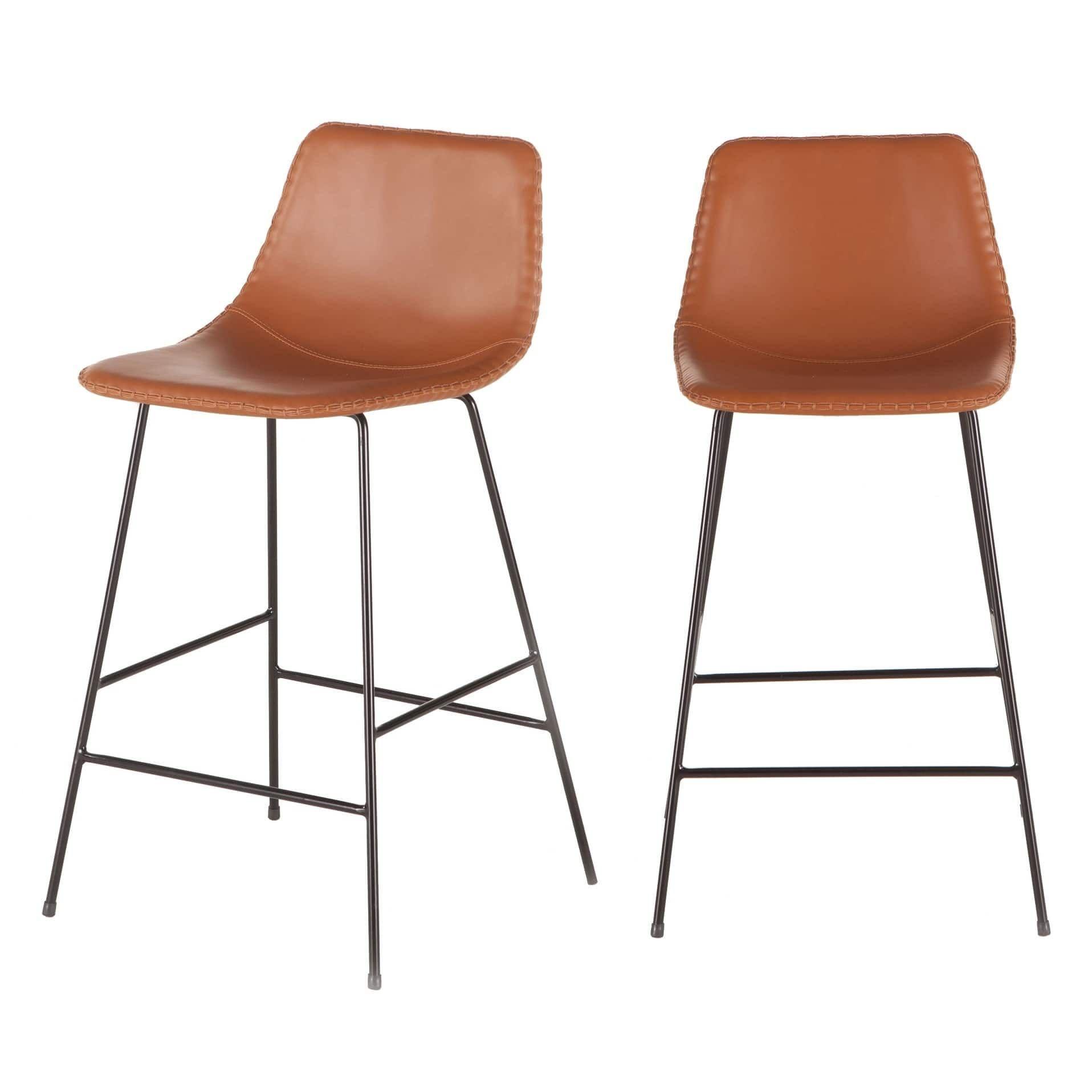 Remarkable Tan Faux Leather Counter Height Stool By World Interiors Inzonedesignstudio Interior Chair Design Inzonedesignstudiocom