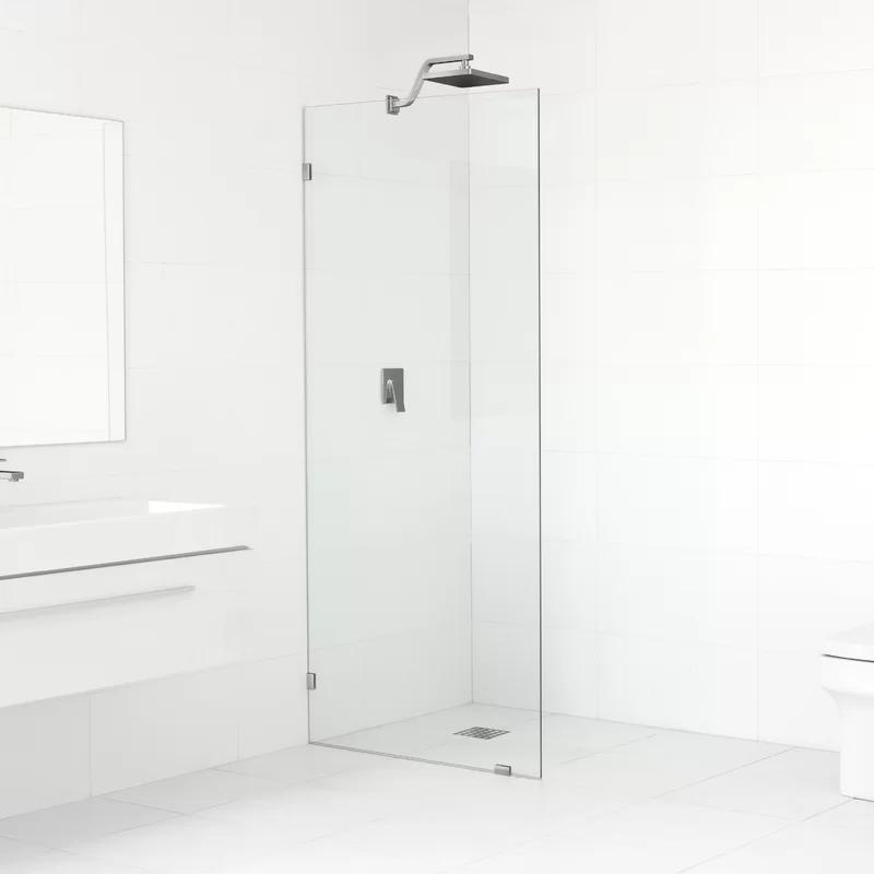 33 X 78 Frameless Fixed Glass Panel In 2020 Shower Doors Frameless Sliding Shower Doors Semi Frameless Shower Doors