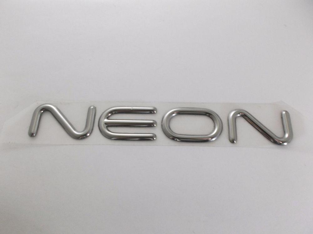 dodge neon emblem 1-1 Dodge Neon Trunk Lid Emblem Vinyl Chrome letters logo badge