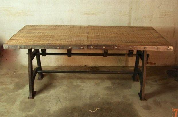 52 id es d co de table table ideas industrial table. Black Bedroom Furniture Sets. Home Design Ideas